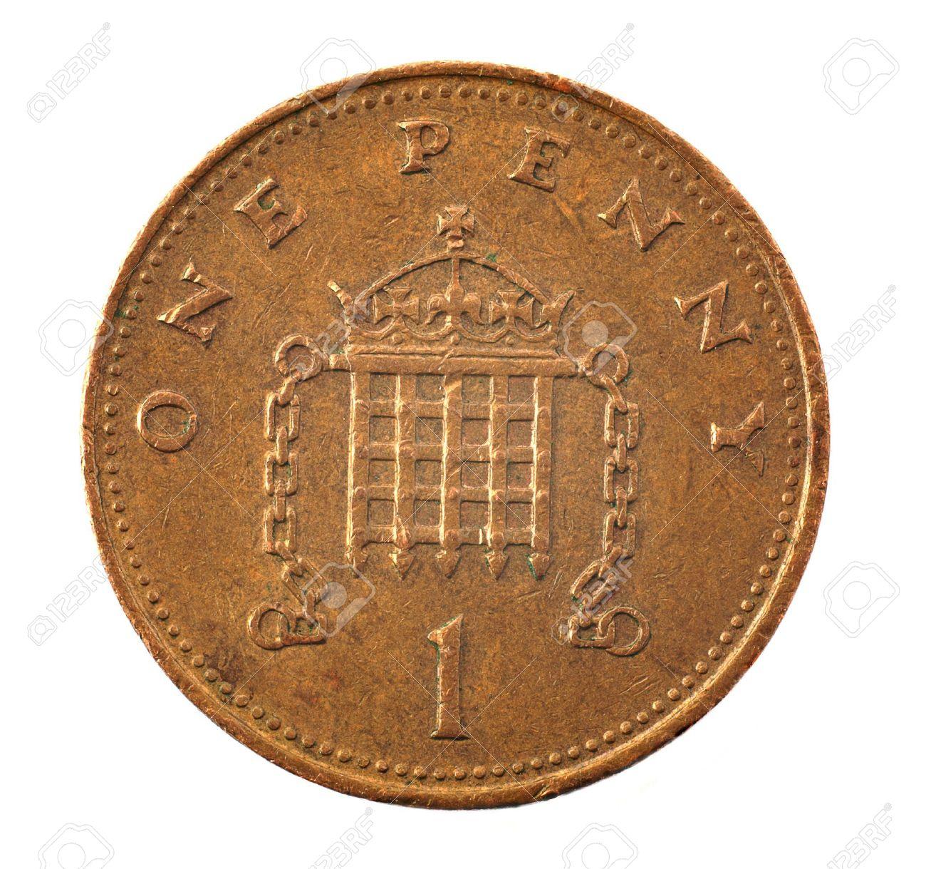 1 pence coin - detailed closeup macro Stock Photo - 4725008