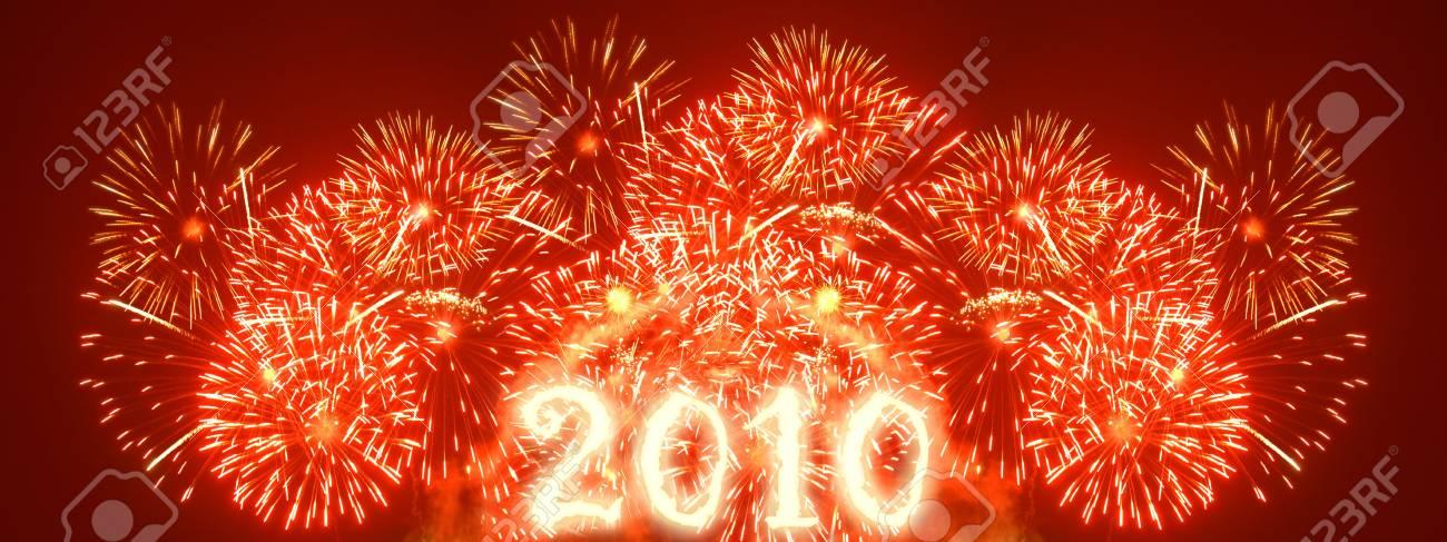 Fireworks - wide xxl sized image Stock Photo - 5465393
