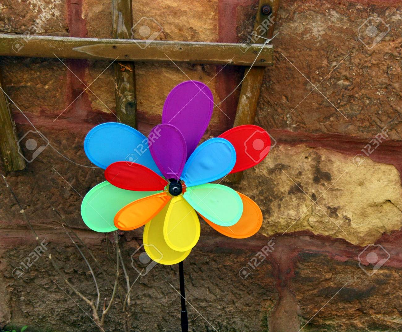 Garden Deco Colorful Pinwheel Stock Photo, Picture And Royalty Free ...