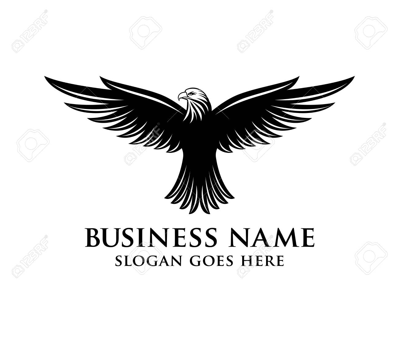 brave and bold eagle vector logo design royalty free cliparts
