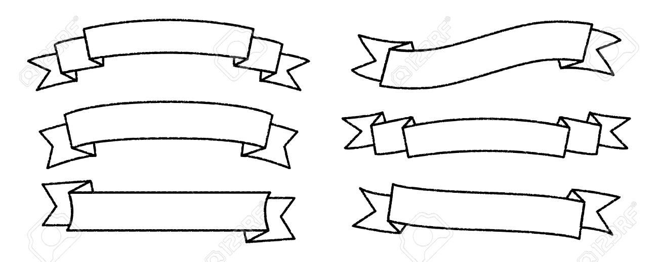 single blank vintage ribbon banner vector logo design scroll