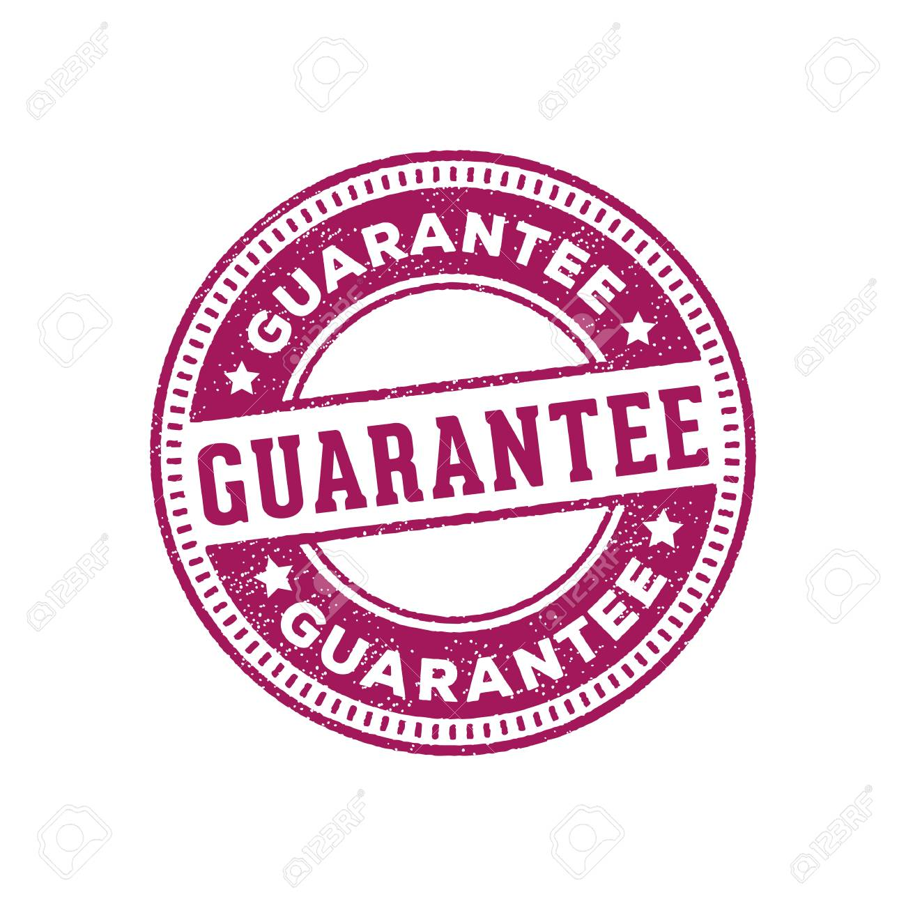 guarantee stamp sign label marker vector design ready print for