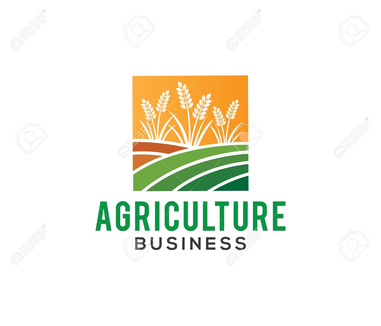 vector logo design and illustration of agriculture business,