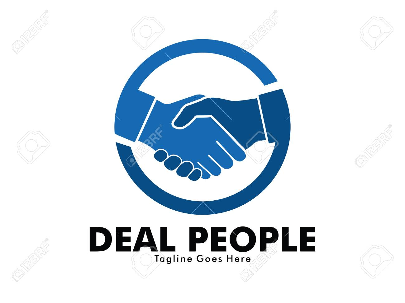 vector logo design of deal handshake sign meaning of friendship, partnership cooperation, business teamwork and trust - 95728048