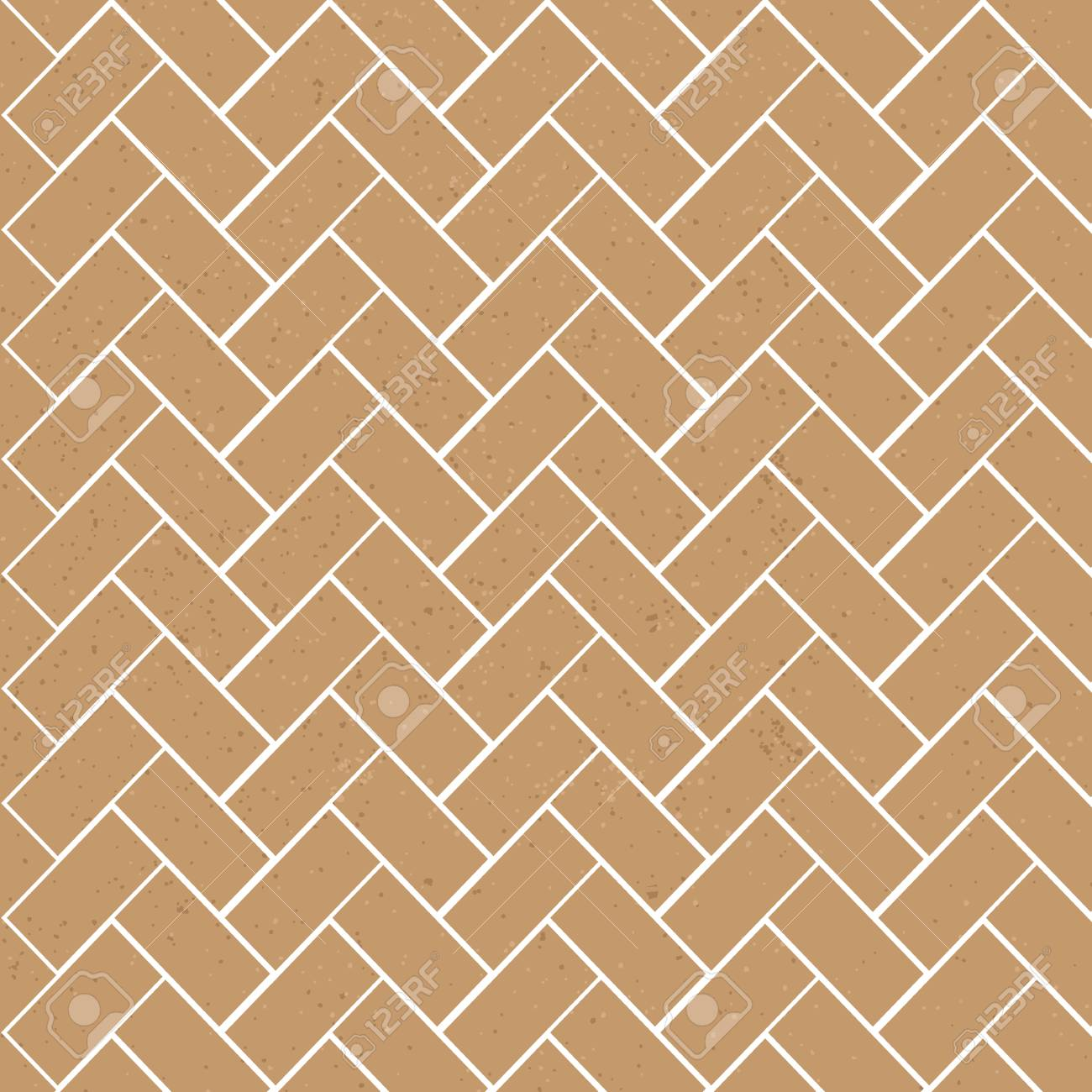 Brick Template | Brown Textured Brick Vector Seamless Pattern Template Royalty Free