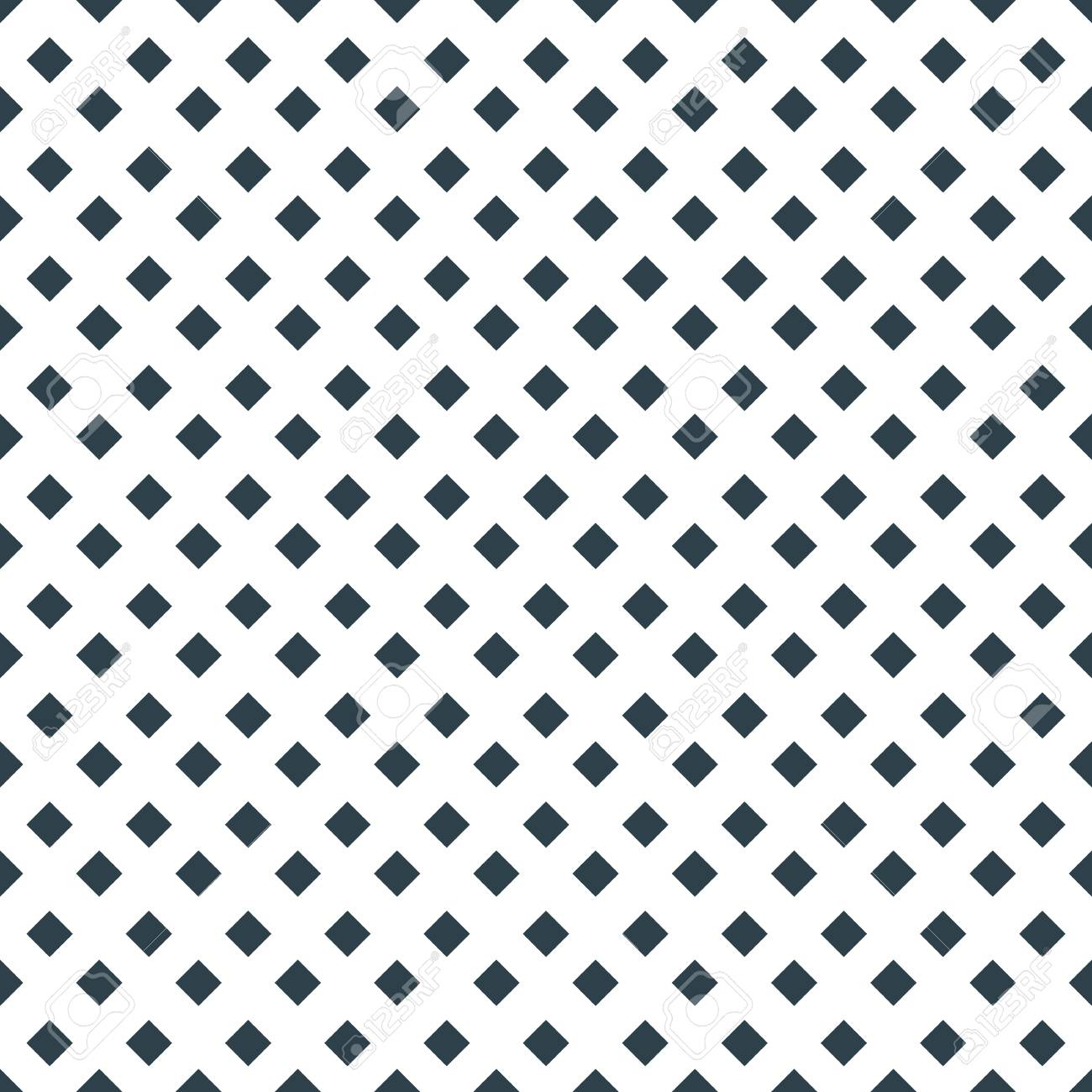 Square Diamond Dot On White Vector Seamless Pattern Template Royalty