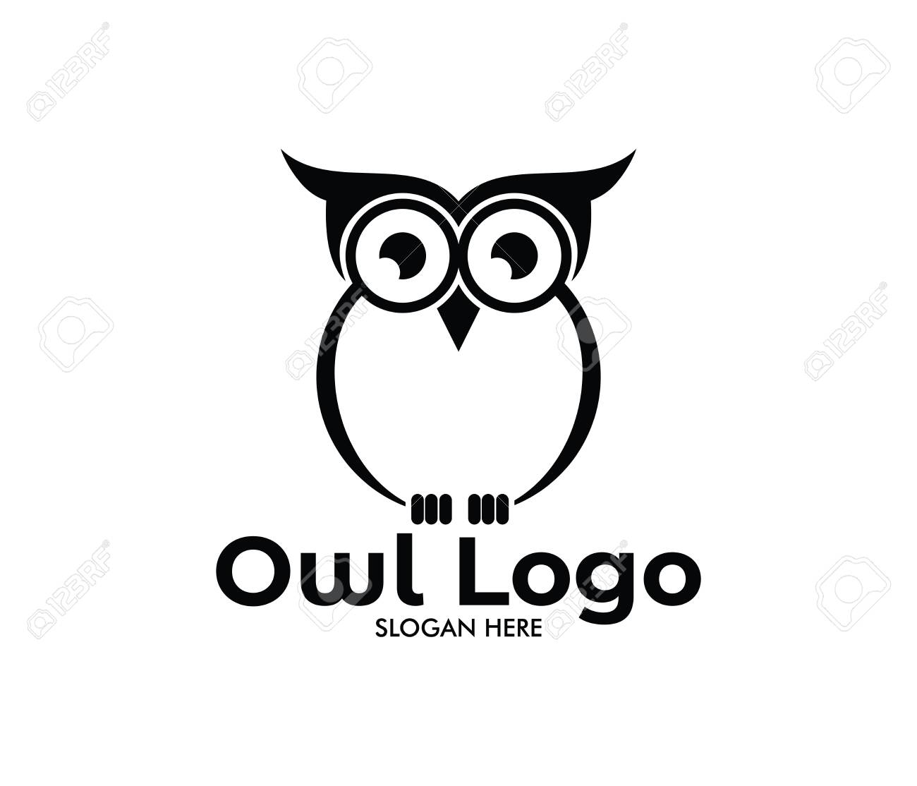 Owl Vector Logo Design Template Stock