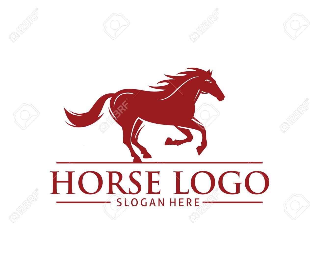 Horse logo design stylish graphic template design company farm.