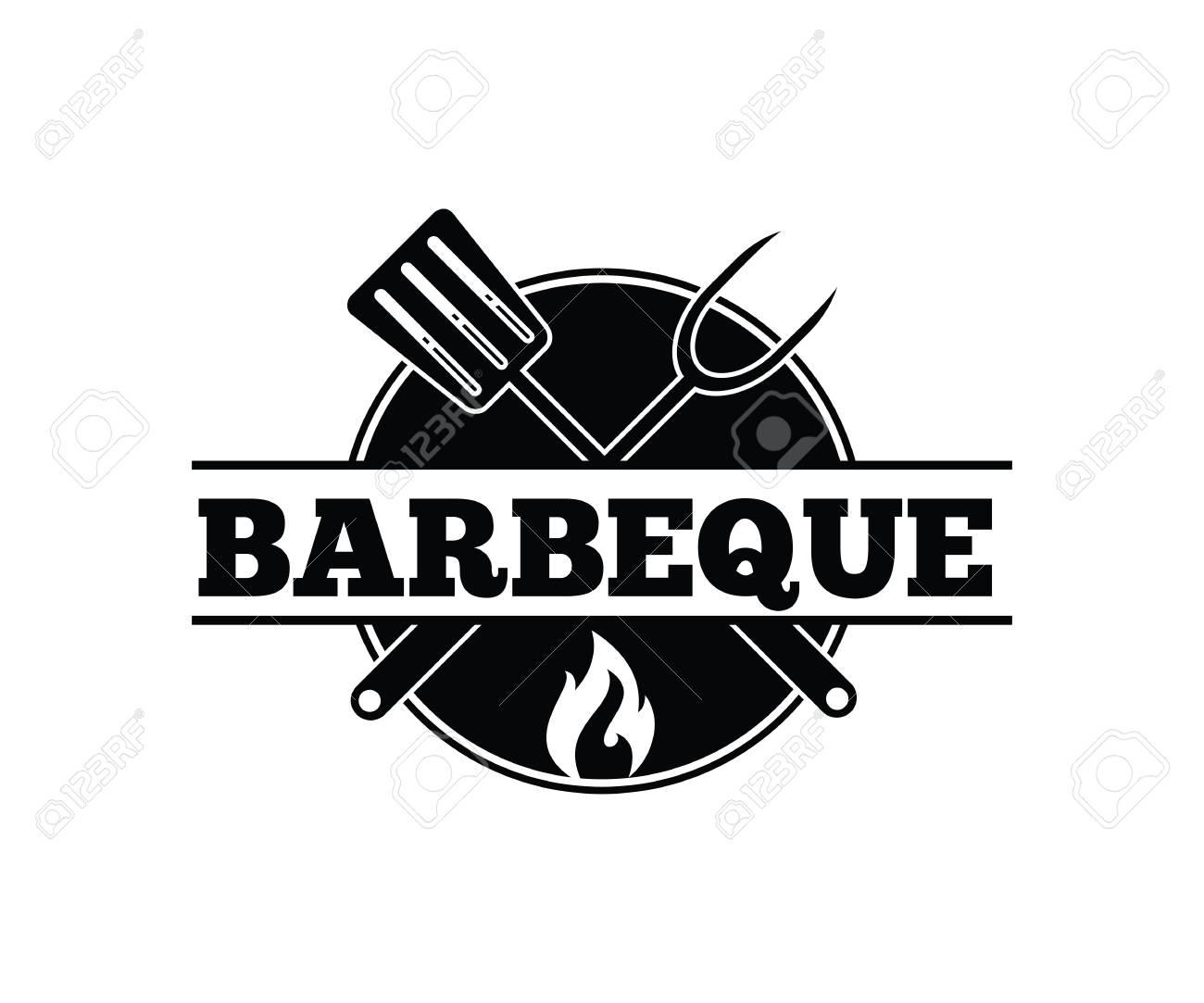 BBQ barbecue vector icon emblem logo design template - 103324226