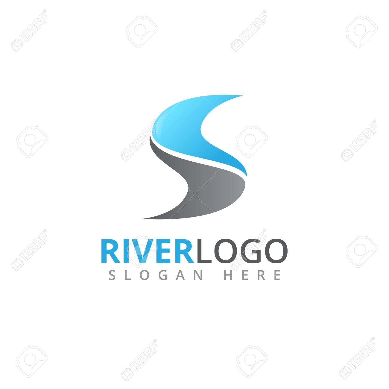 abstract river stream flowing shape vector logo design template royalty free cliparts vectors and stock illustration image 109090758 abstract river stream flowing shape vector logo design template