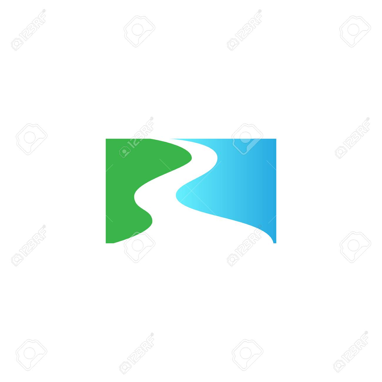 abstract river stream flowing shape vector logo design template royalty free cliparts vectors and stock illustration image 109095159 abstract river stream flowing shape vector logo design template