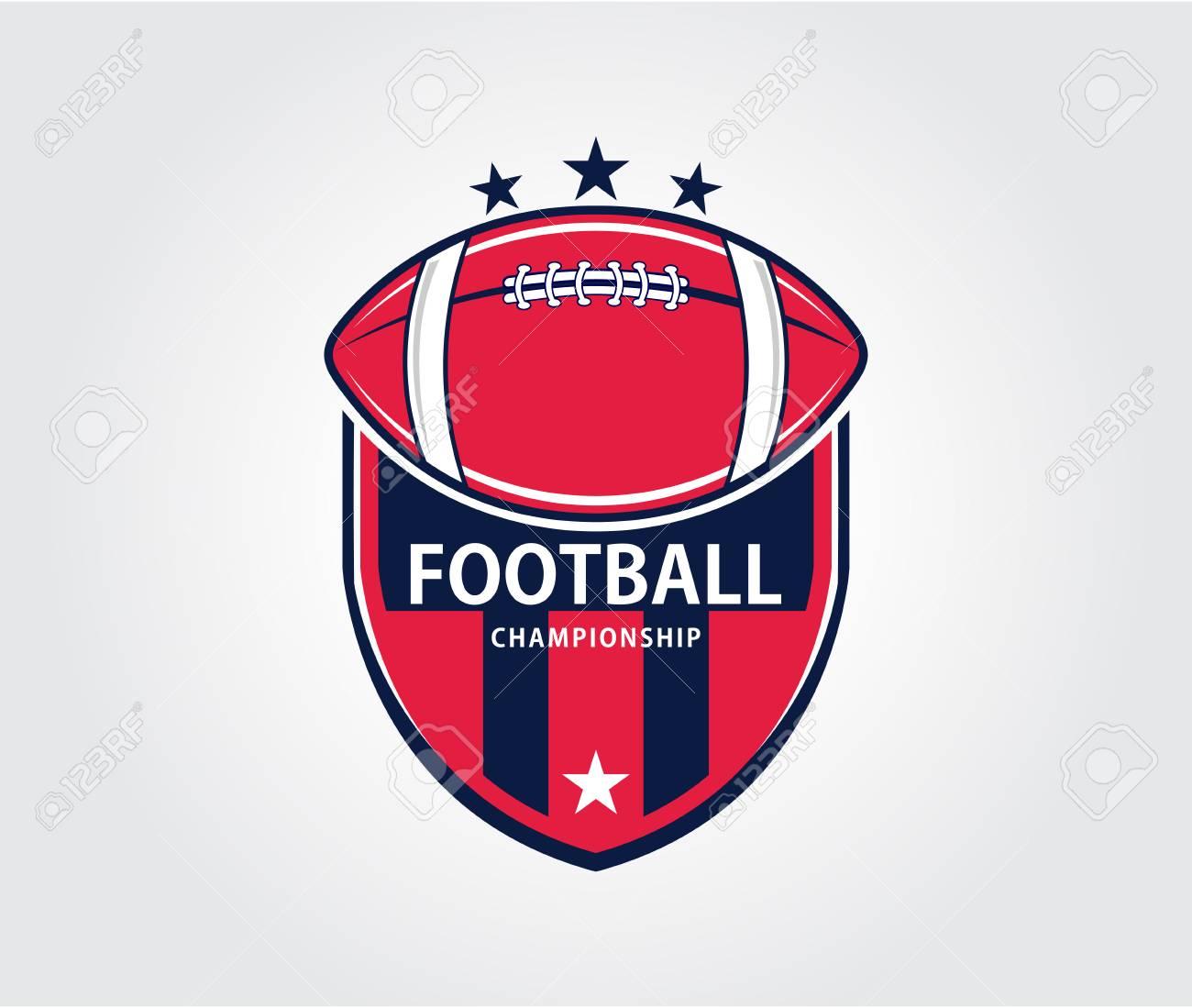 American Sport Football Badge Vector Logo Design Template For Brand