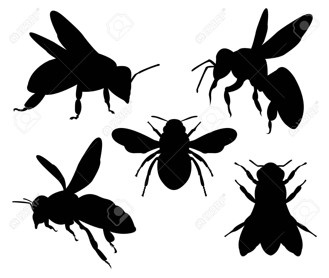 Honey Bee Silhouette Character Vector Logo Design Template Inspiration Royalty Free Cliparts Vectors And Stock Illustration Image 109242970 Here you can explore hq bee silhouette transparent illustrations, icons and clipart with filter setting polish your personal project or design with these bee silhouette transparent png images, make it. honey bee silhouette character vector logo design template inspiration