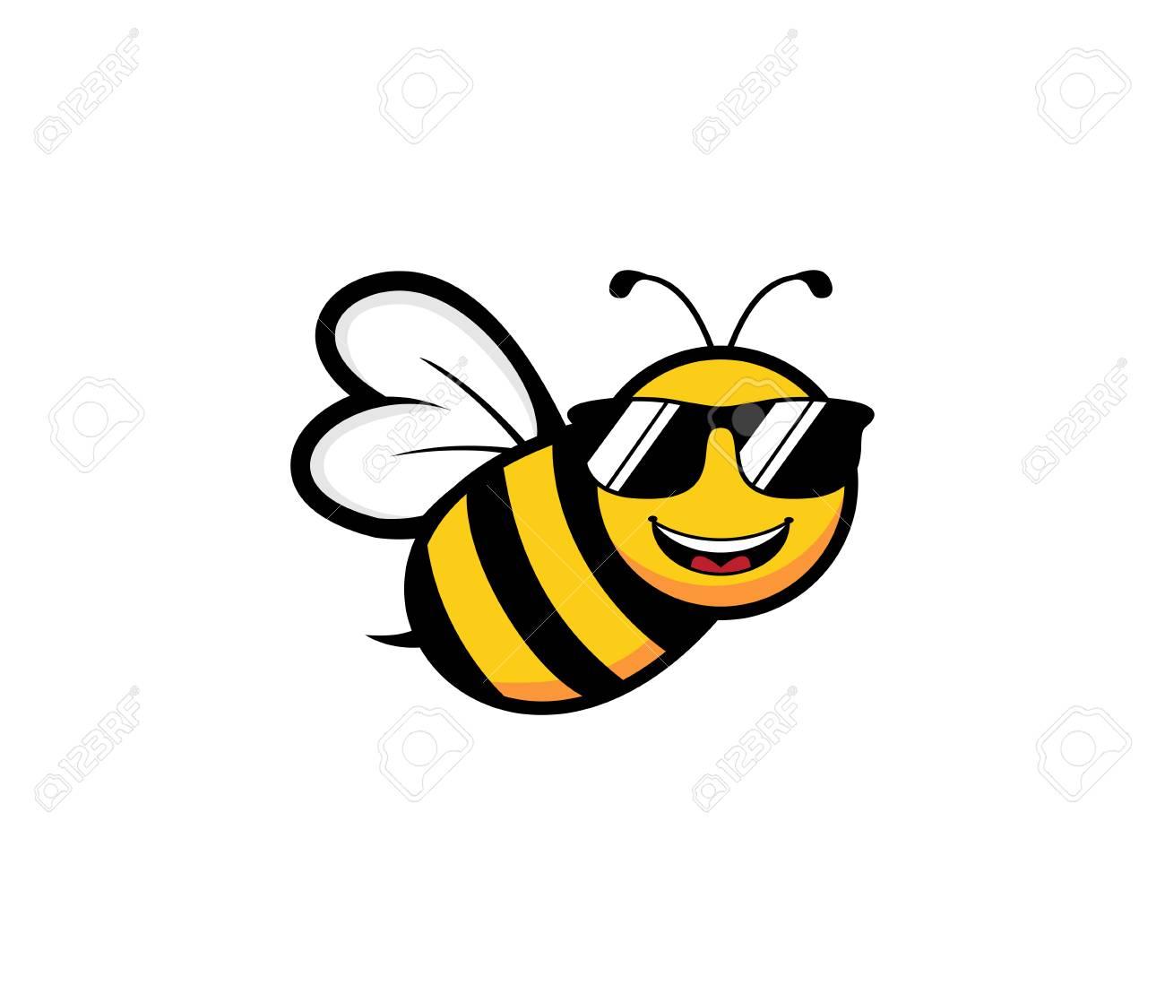 df3ccf534c95 Cute Honey Bee Mascot Character Vector Logo Design Template ...