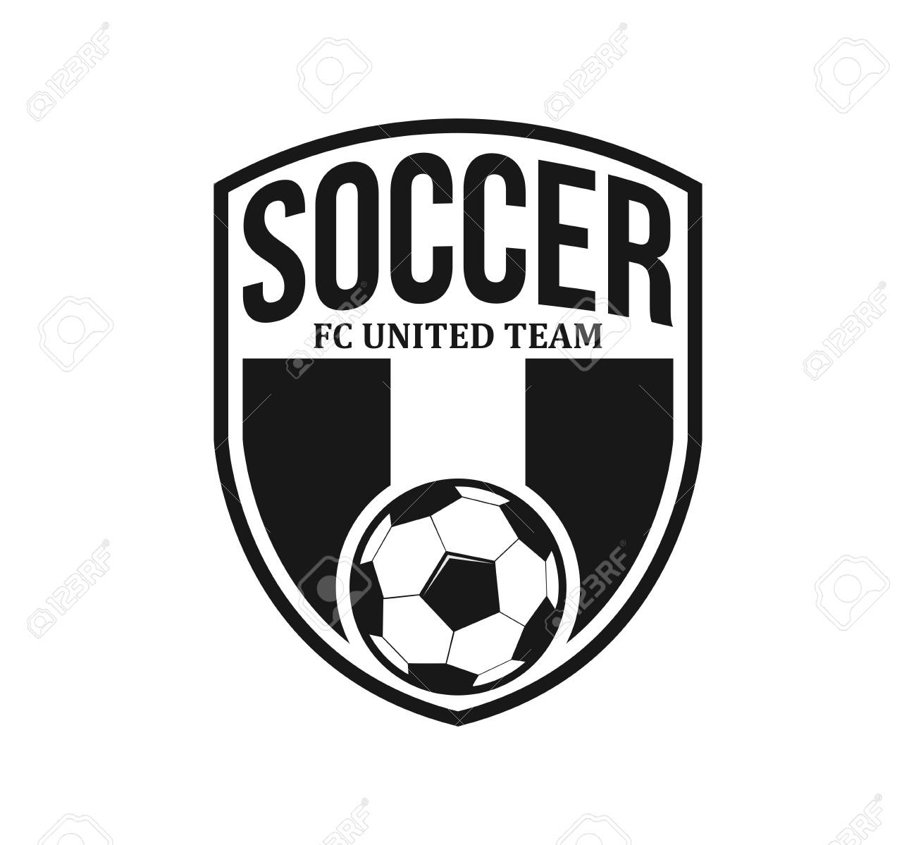 soccer football crest emblem vector logo design template inspiration..  royalty free cliparts, vectors, and stock illustration. image 110848071.  123rf