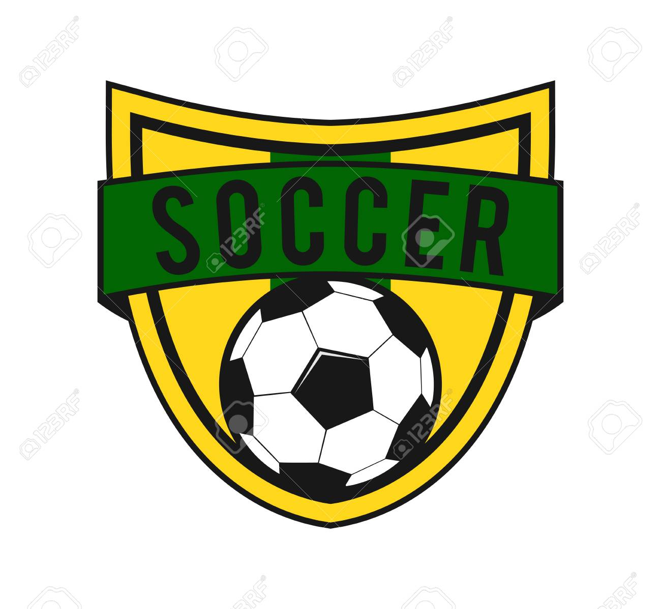 soccer football crest emblem vector logo design template inspiration