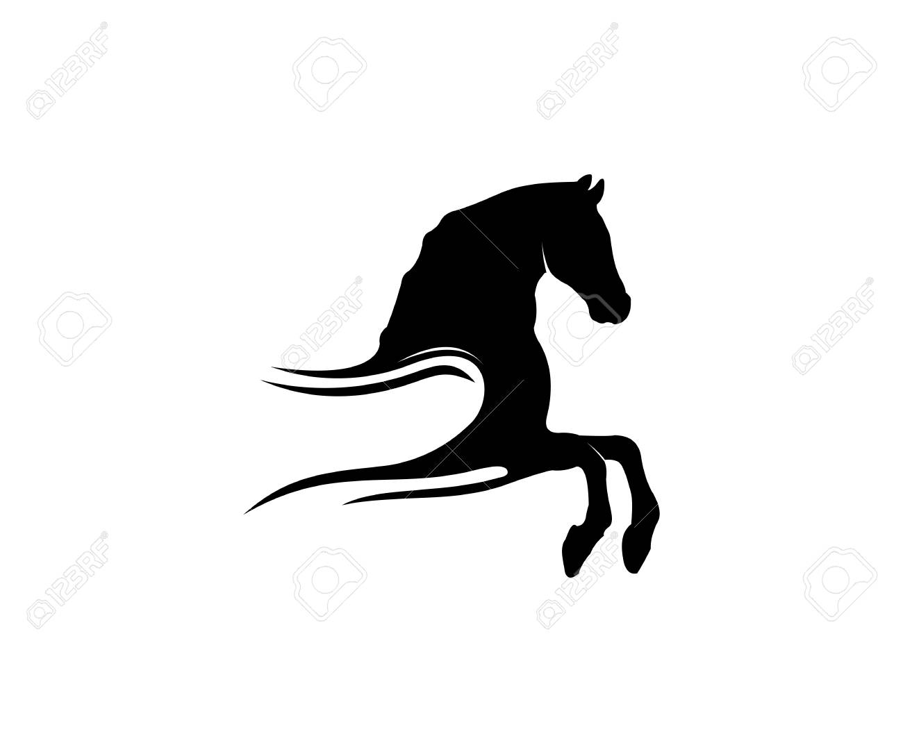 Simple Horse Sport Vector Logo Design Inspiration For Racing Royalty Free Cliparts Vectors And Stock Illustration Image 110848104