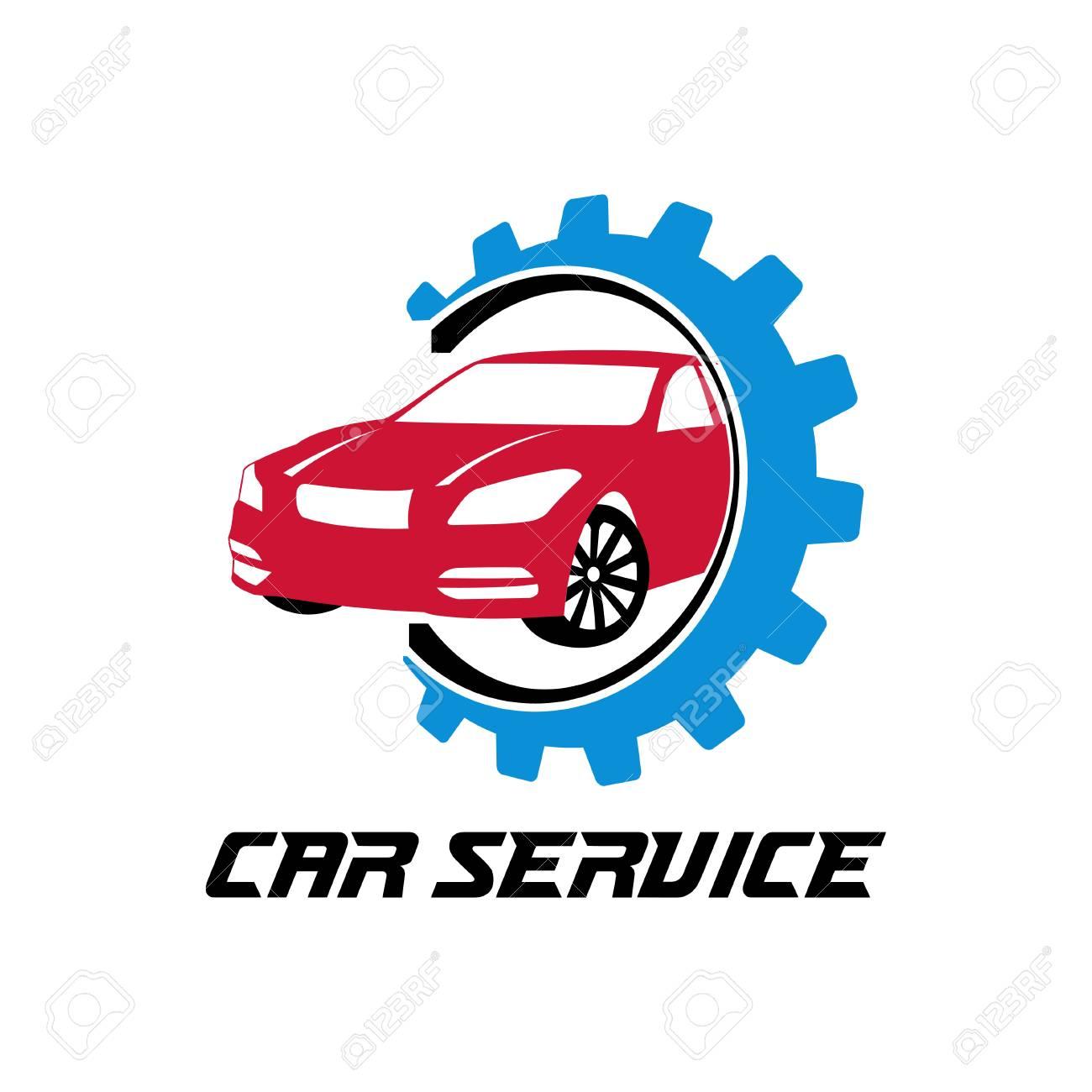 Car Dealer Or Maintenance Service Vector Logo Design Template