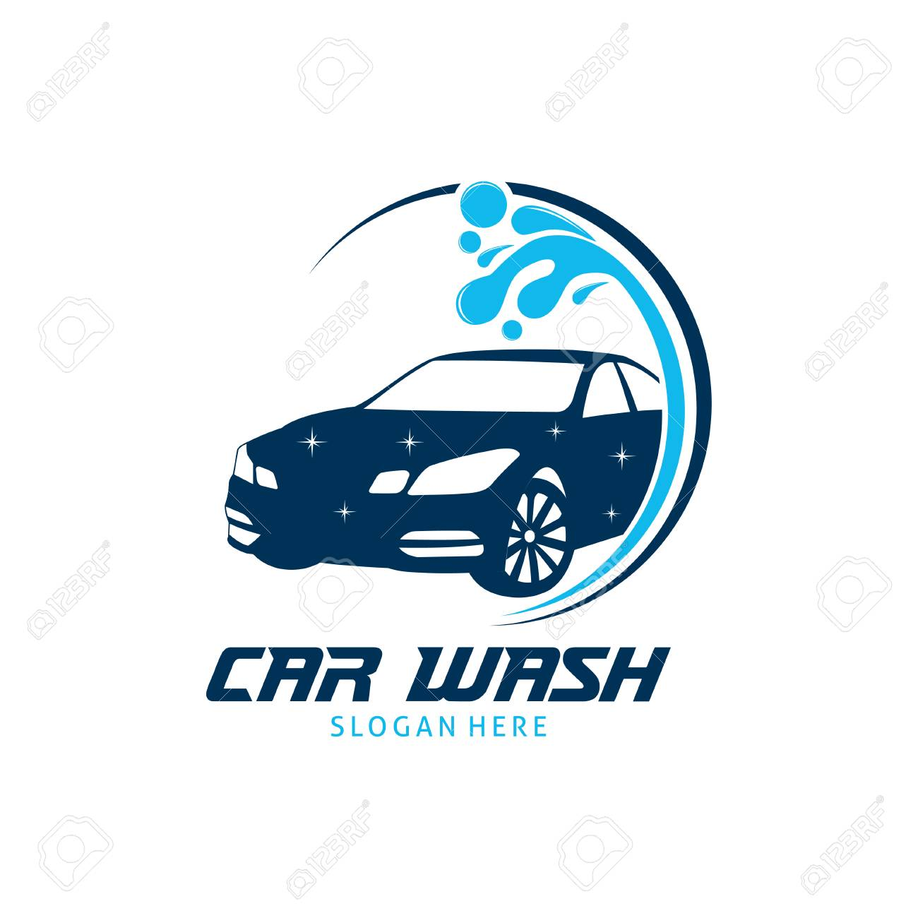 Car Wash Service Vector Logo Design Template Inspiration Or
