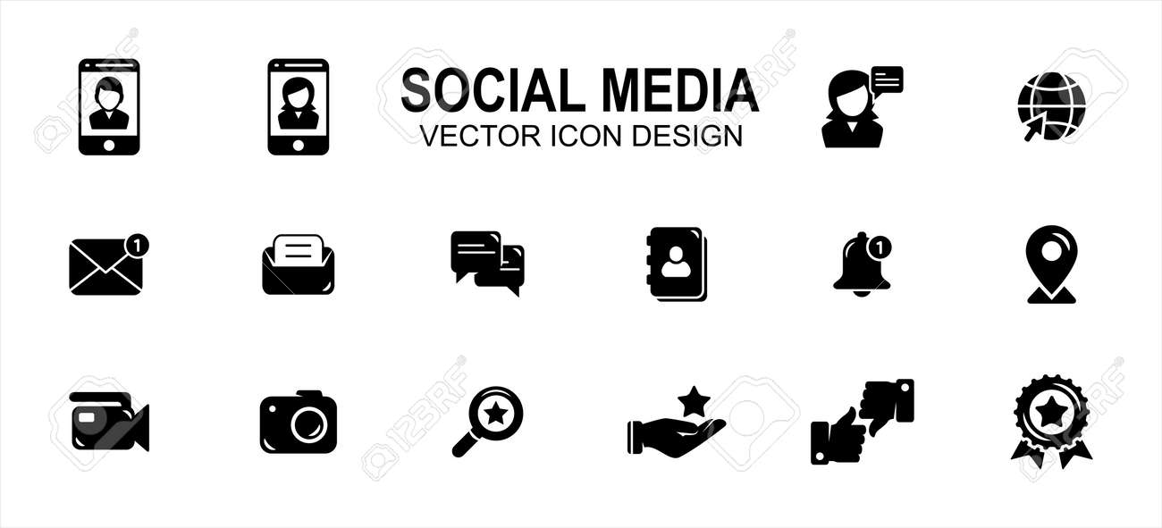 social media platform related vector icon user interface graphic design. Contains such icons as profile, picture, photo, share, meet, meeting, virtual, friend, messaging, interaction, life, internet - 169744598