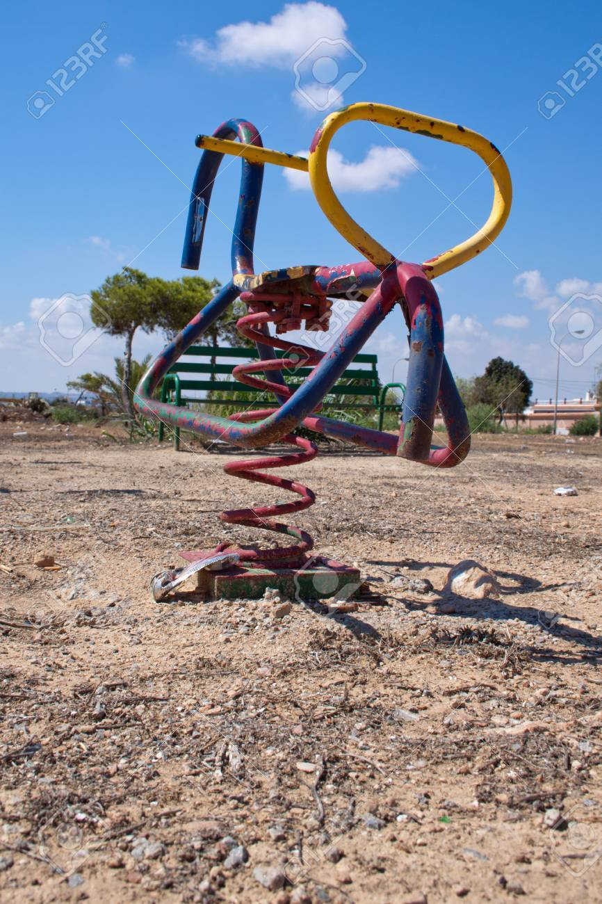 Abandoned Playground In Sparse Landscape Stock Photo Picture And Royalty Free Image Image 12655687