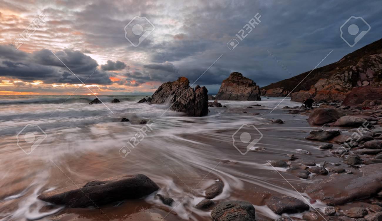 Stormy Cornwall Stock Photo - 13828575