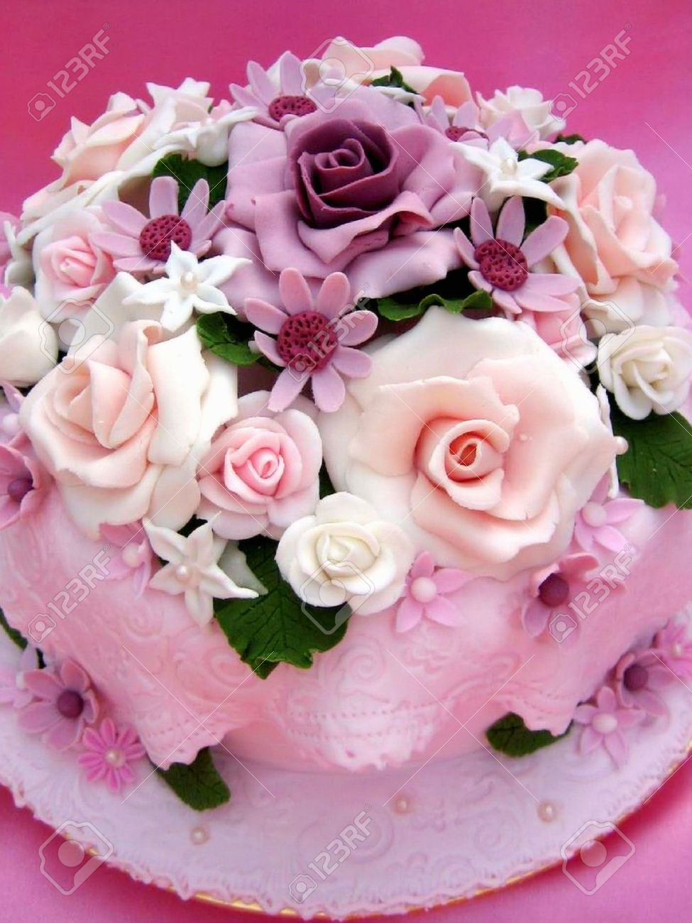 Flower Colorful Birthday Cake