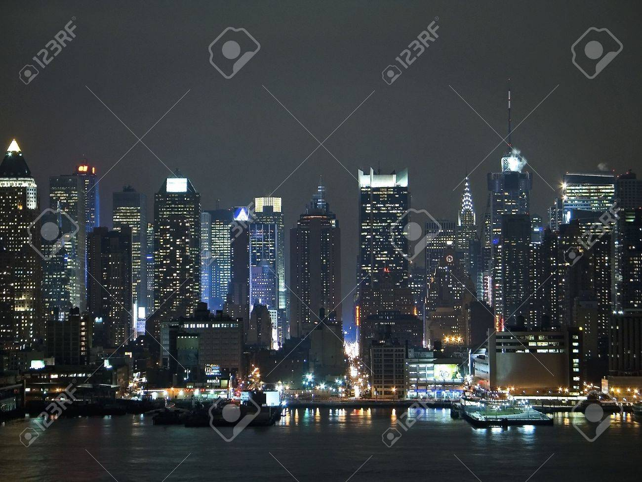 A Current Night Time View Of The Changing New York City Skyline Stock Photo Picture And Royalty Free Image Image 686621