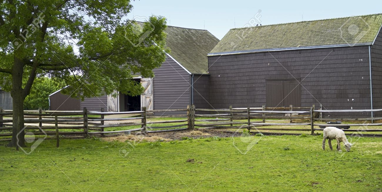 A Panoramic View Of The Barnyard At The Historic Longstreet Farm Stock Photo Picture And Royalty Free Image Image 4579310