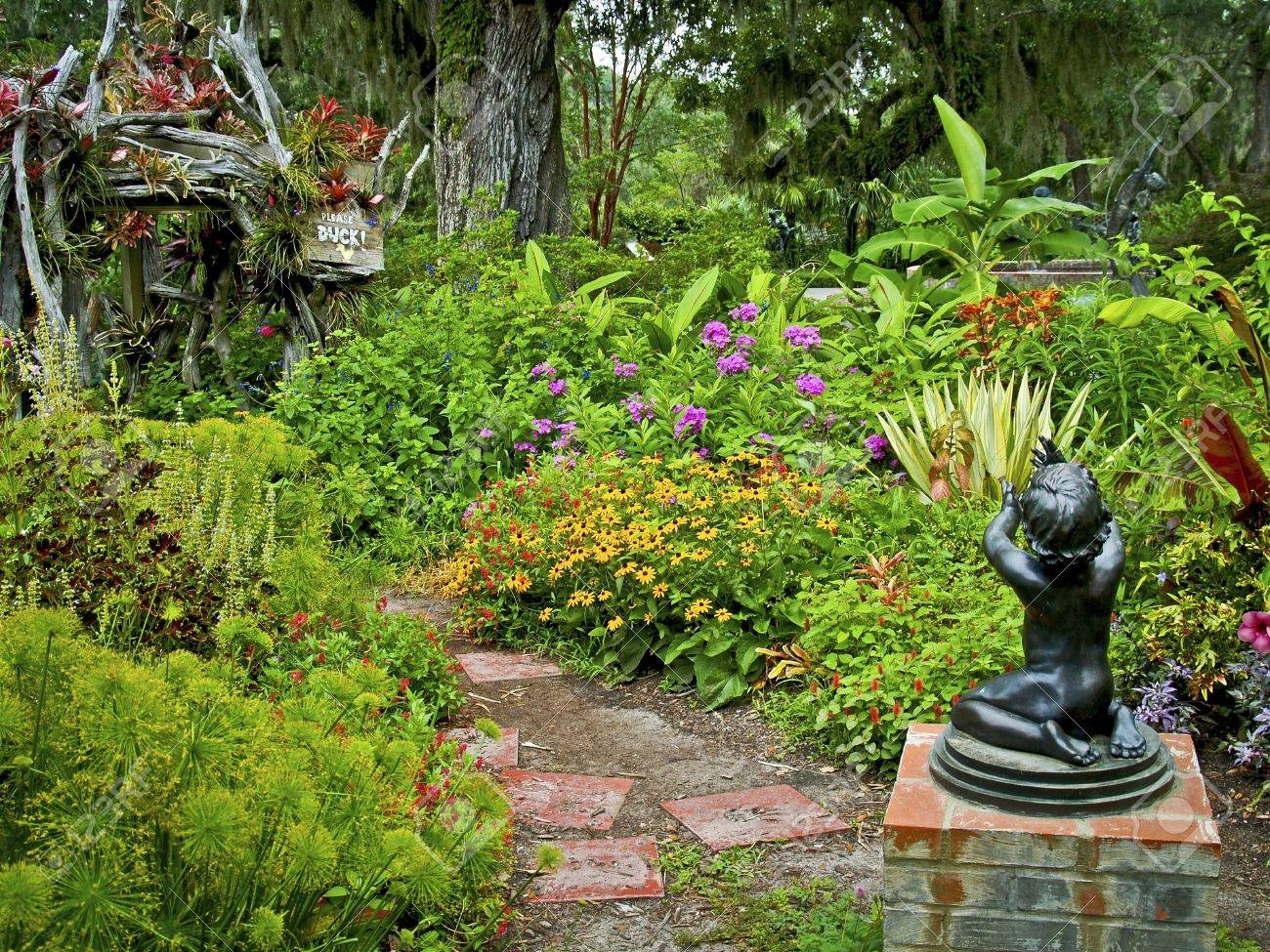 A Mid Summer Look At Brookgreen Gardens Near Myrtle Beach In.. Stock ...