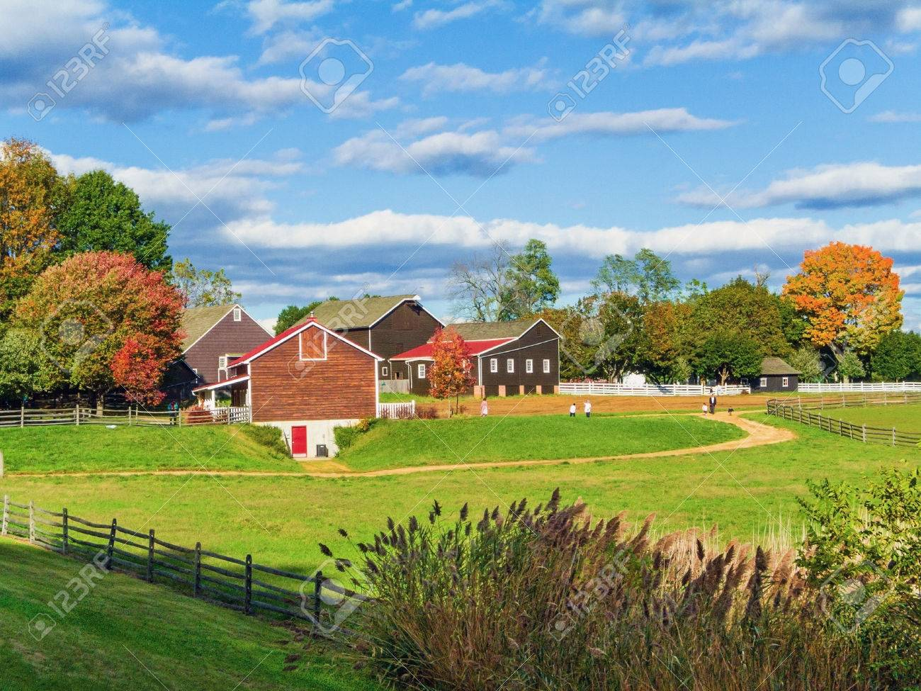 An Autumn View Of Historic Longstreet Farm In Holmdel Park In Stock Photo Picture And Royalty Free Image Image 29219182