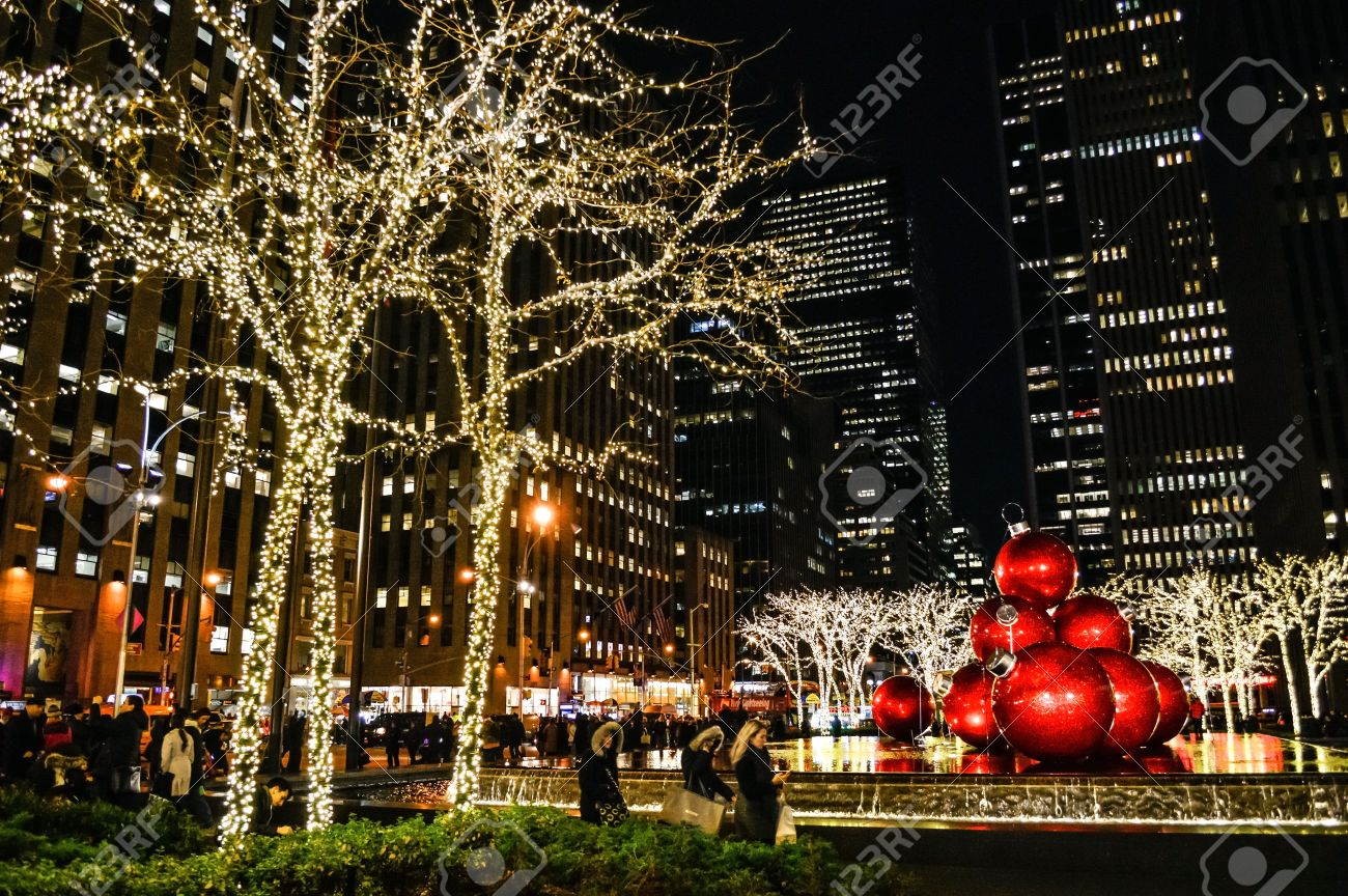 new york december 4 christmas lights around rockefeller center during the holiday season on - Newest Christmas Lights