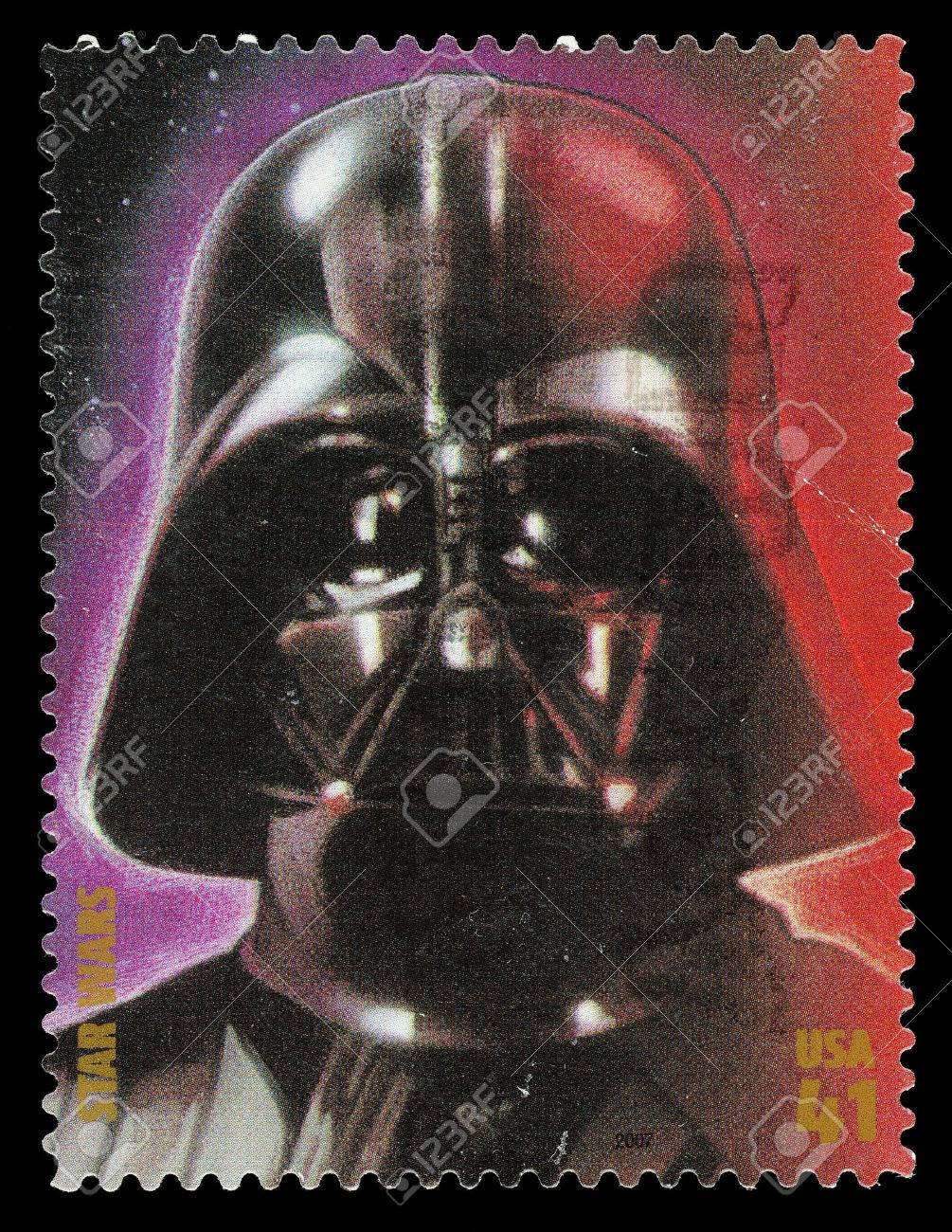 United States - CIRCA 2007: A Used Postage Stamp printed in the United States, showing Darth Vader from the Star Wars Films, circa 2007 Stock Photo - 22688197