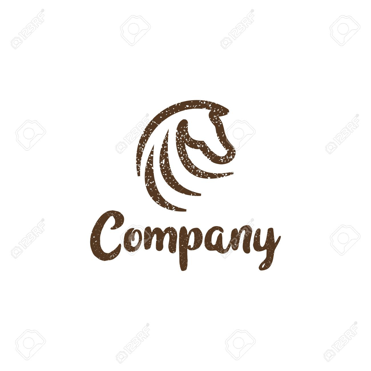 Grunge Abstract Horse Logo Amazing Design For Your Company Or Royalty Free Cliparts Vectors And Stock Illustration Image 118701348