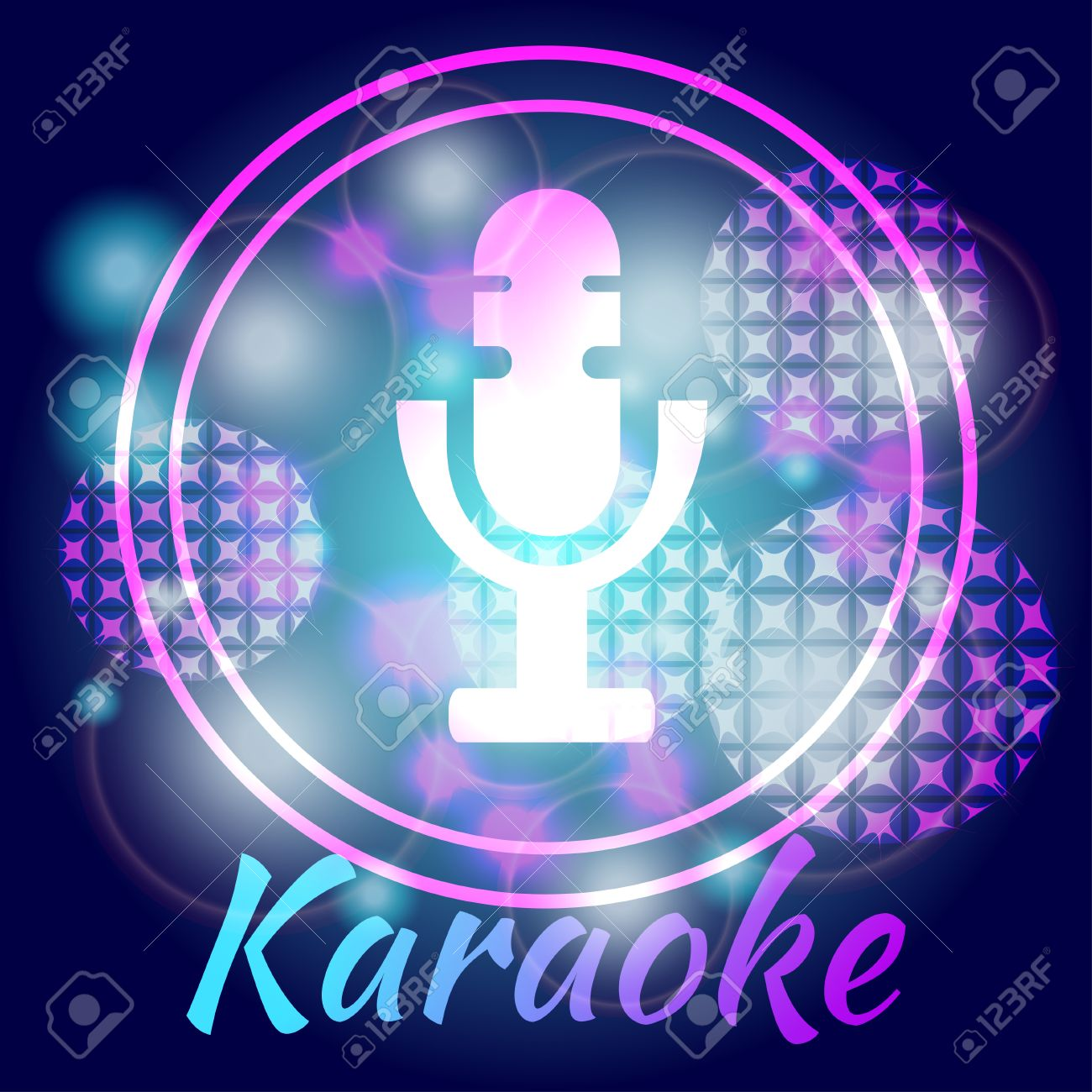 Microphone against a bright background karaoke party great microphone against a bright background karaoke party great for banners posters and invitations monicamarmolfo Image collections