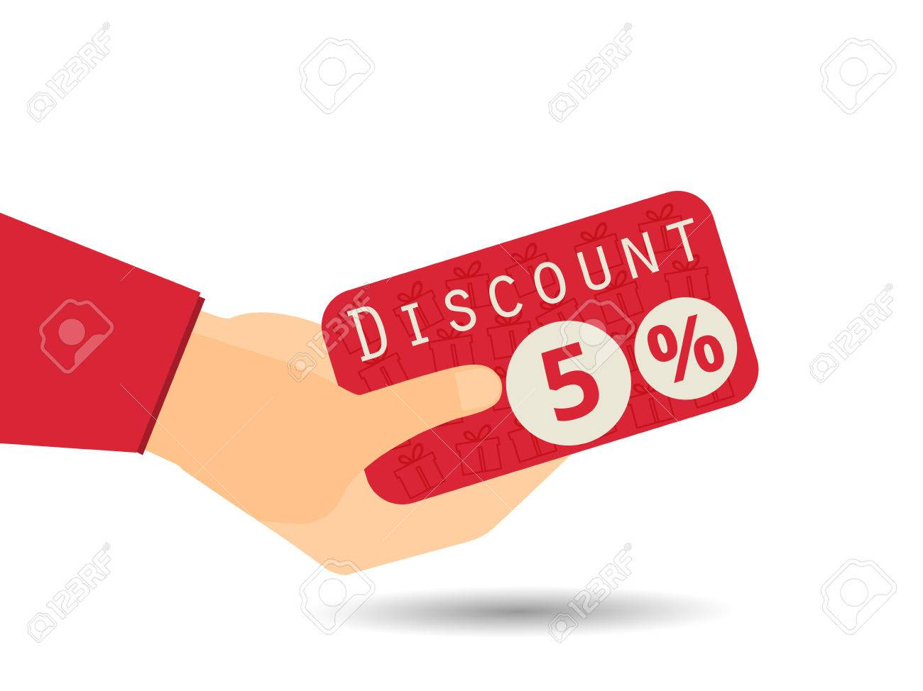 discount coupons in hand percent discount special offer discount coupons in hand 5 percent discount special offer gift boxes in the