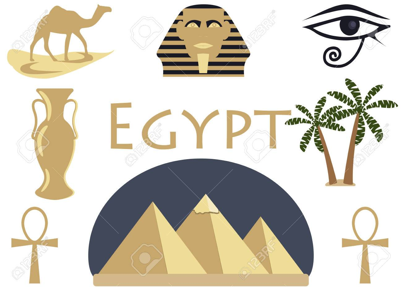 Welcome to egypt symbols of egypt tourism and adventure vector welcome to egypt symbols of egypt tourism and adventure vector illustration stock biocorpaavc Gallery