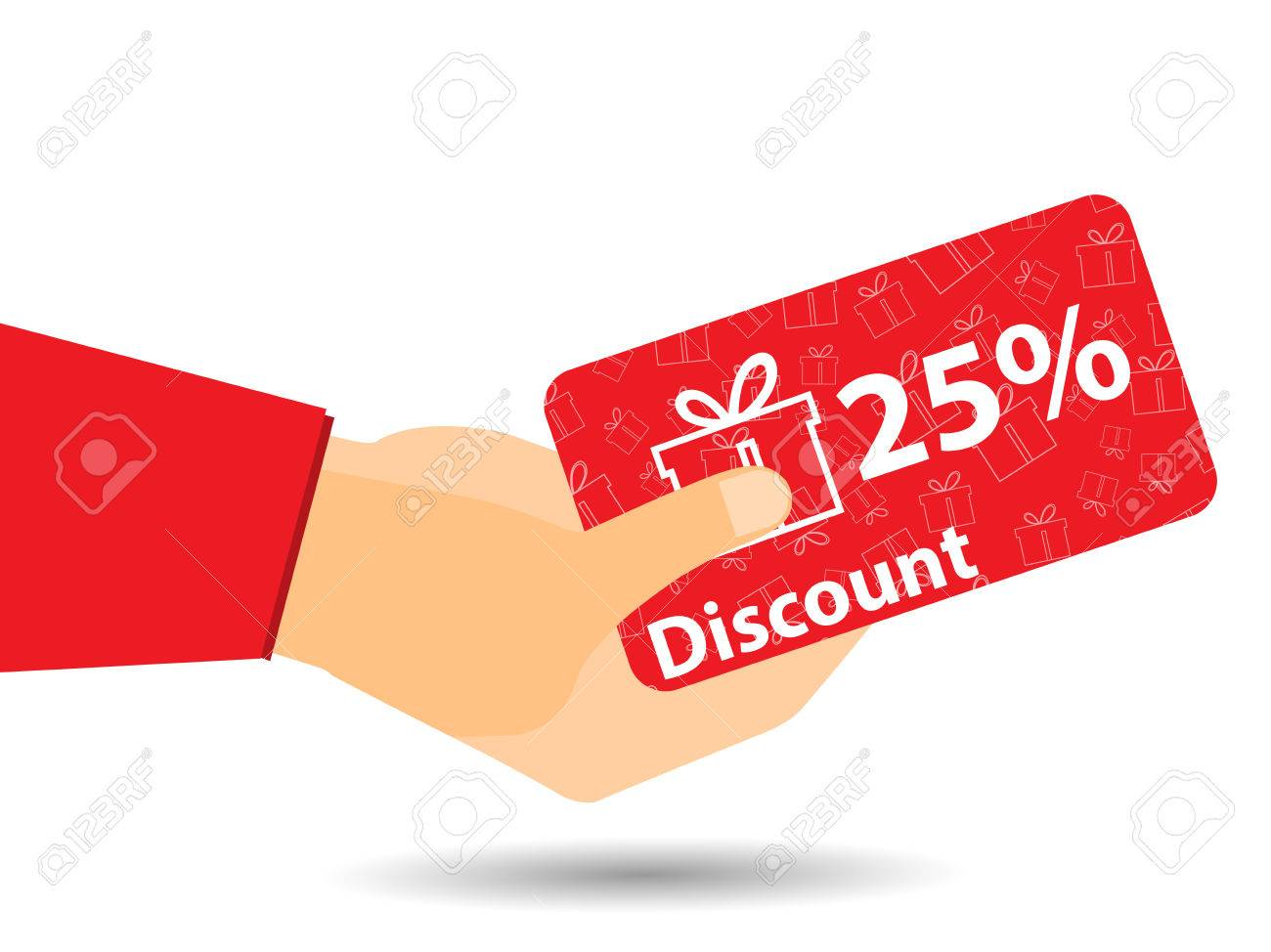 discount coupons in hand percent discount special offer discount coupons in hand 25 percent discount special offer gift boxes on