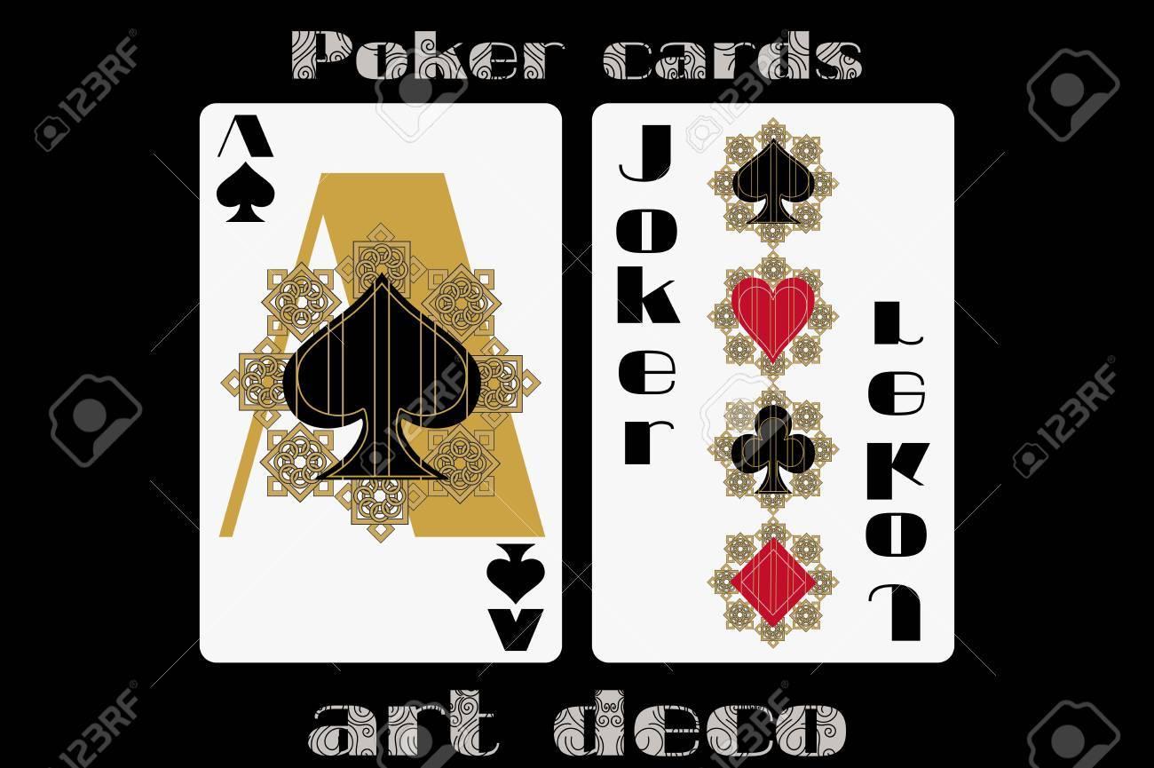 Poker Playing Card Ace Spade Joker Poker Cards In The Art
