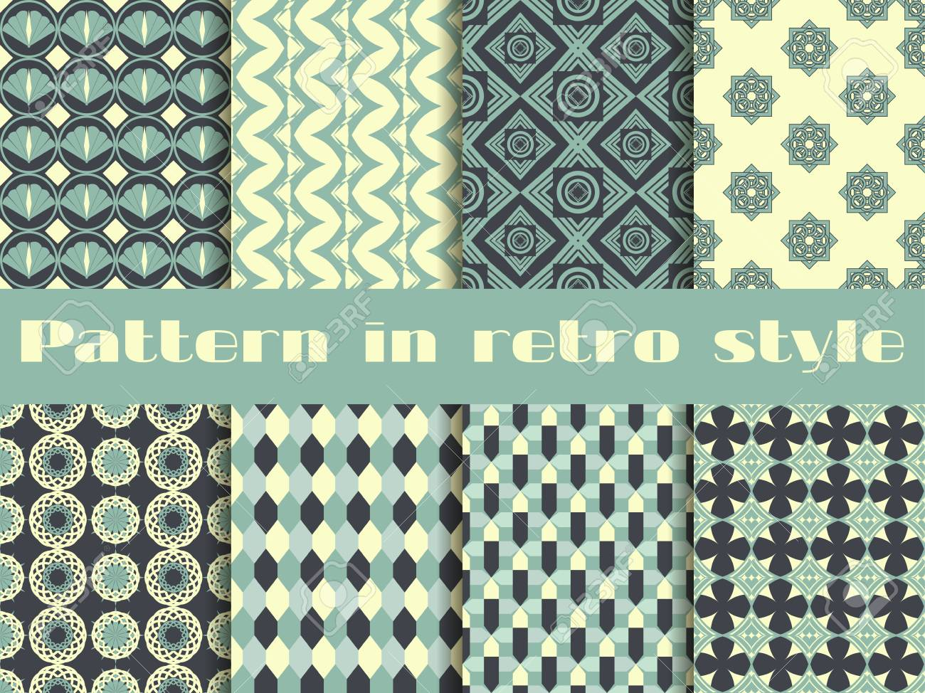 Set Of Ethnic Seamless Patterns. The Pattern For Wallpaper, Tiles ...