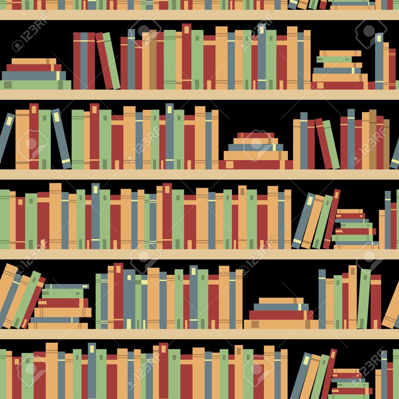Livres Sans Couture Seamless Livres Bibliotheque Bibliotheque Une Bibliotheque Une Librairie Des Livres Sur Une Etagere Dans La Bibliotheque Des