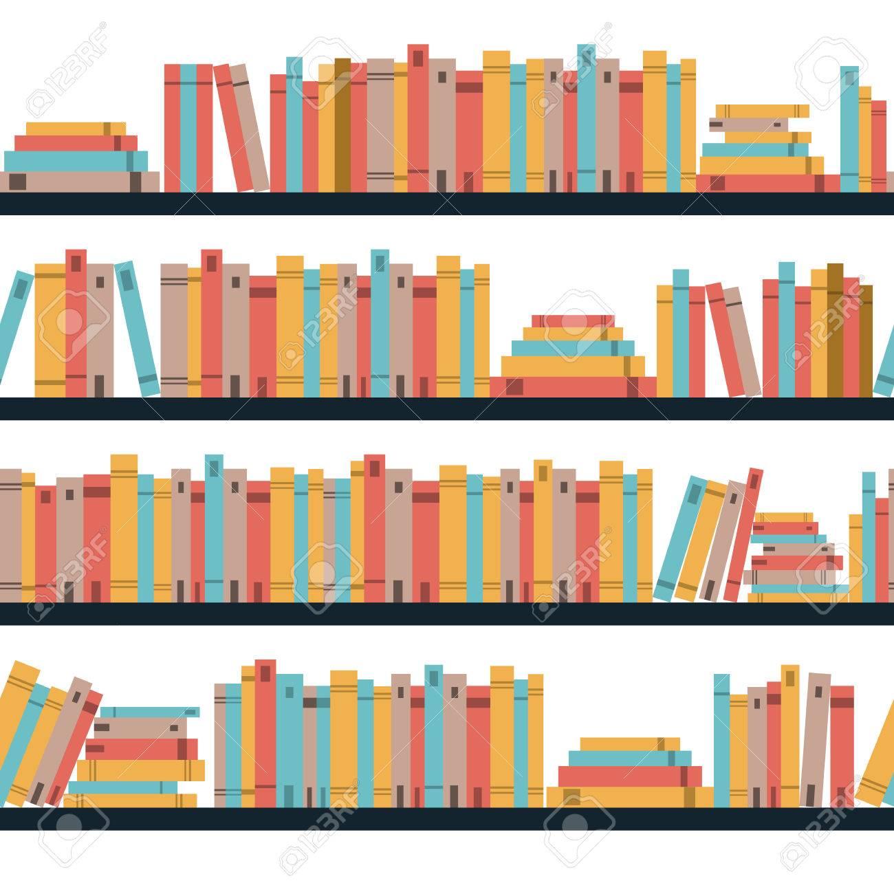 Seamless Books Seamless Pattern With Books Library Bookshelf