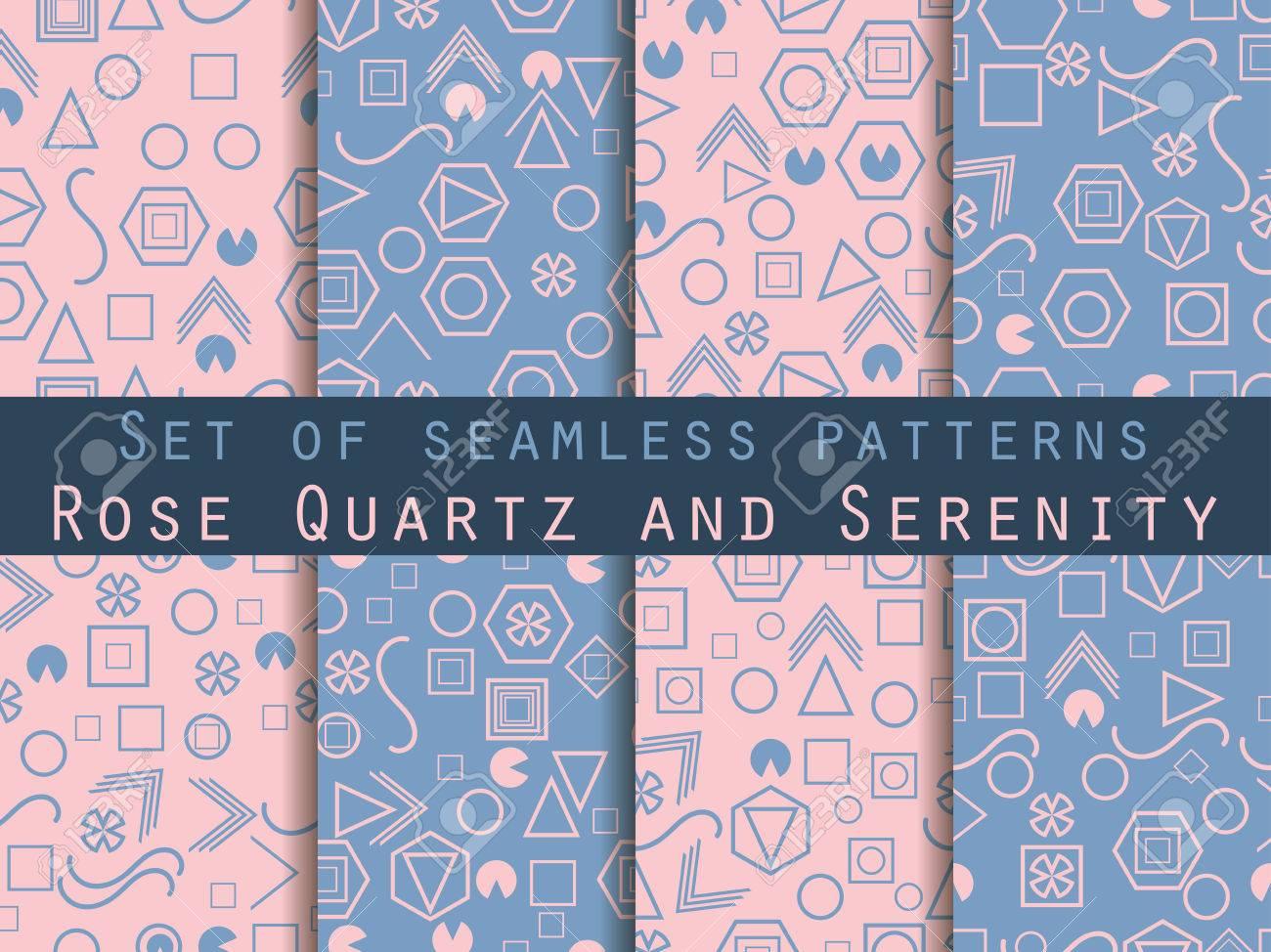 Seamless pattern impostato con figure geometriche nello stile di