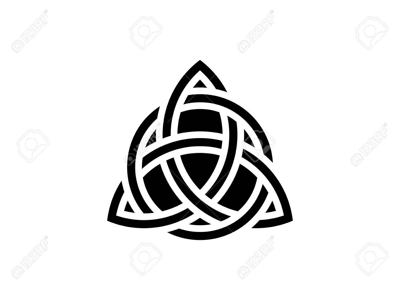 Triquetra Nud De La Trinité Symbole Celtique De Léternité