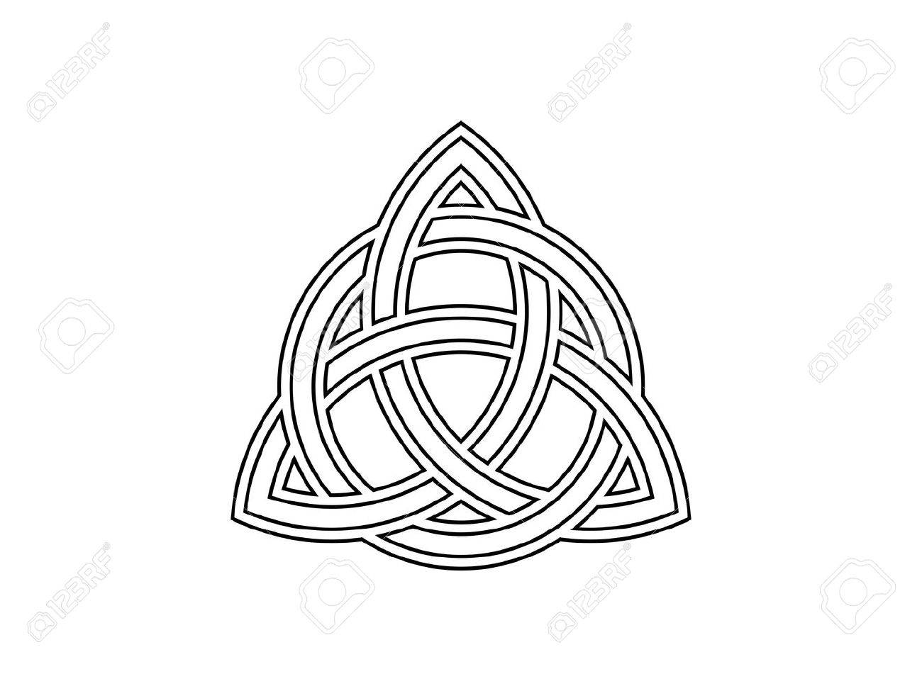 Triquetra trinity knot celtic symbol of eternity vector trinity knot celtic symbol of eternity vector illustration stock vector 85196552 buycottarizona Gallery