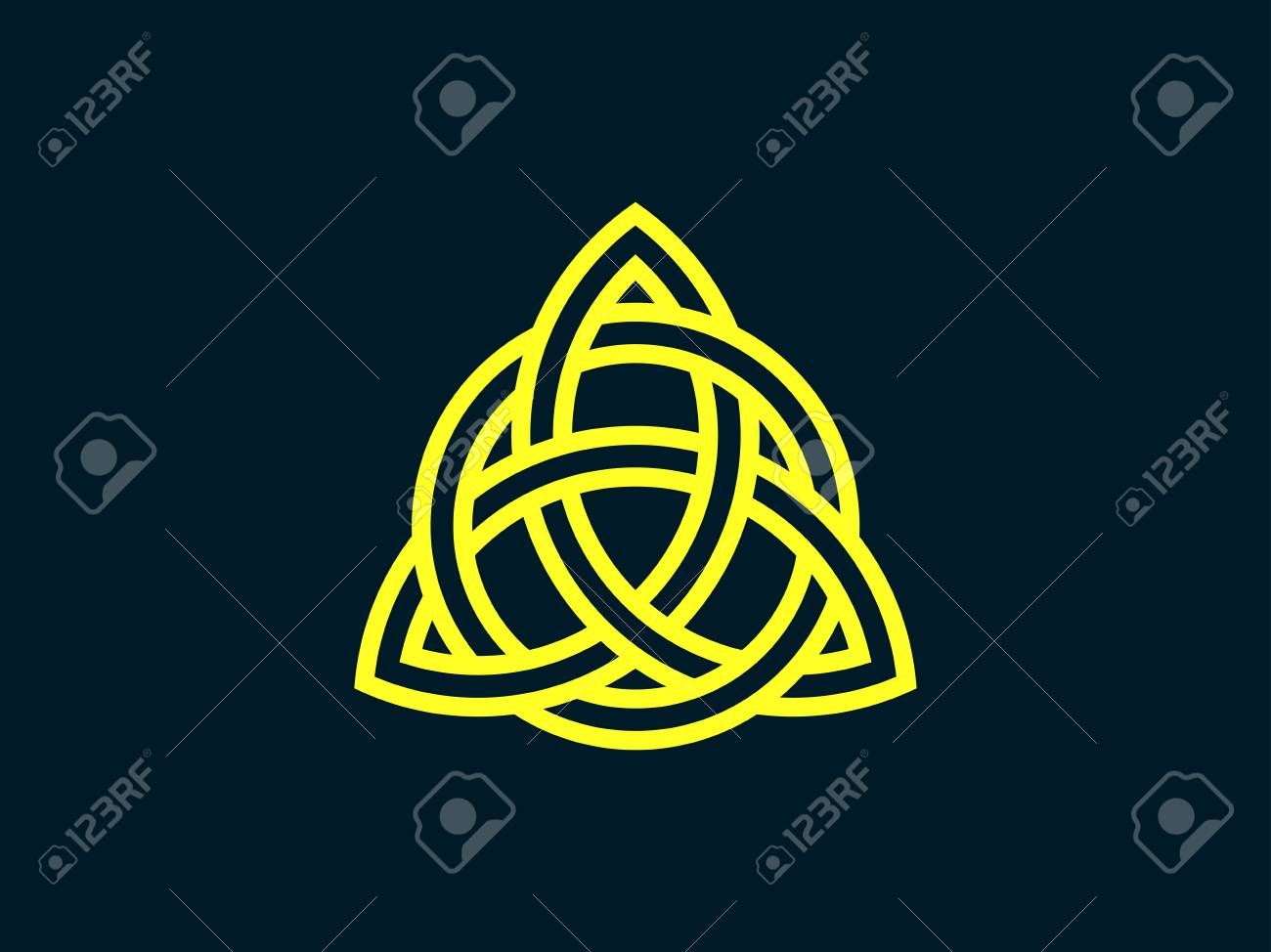 Triquetra trinity knot celtic symbol of eternity vector celtic symbol of eternity vector illustration stock vector 85264894 buycottarizona Image collections