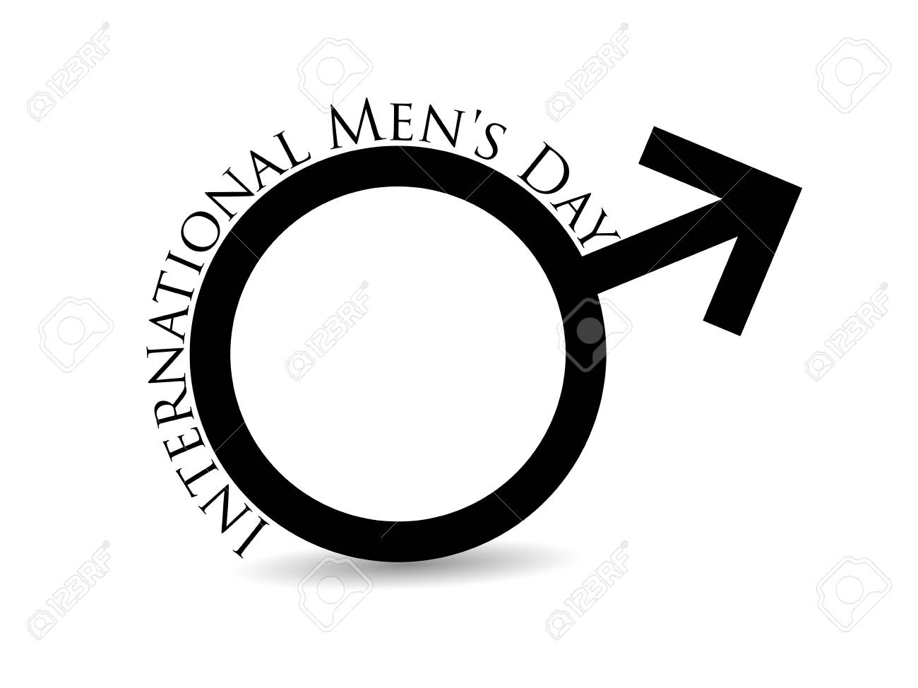 International Mens Day Mars Symbol Male Sign Is Insulated