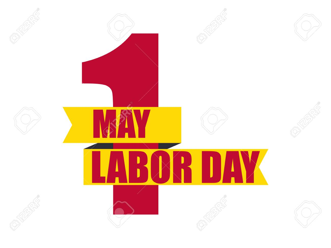 Labour Day 1st Of May International Workers Day Ribbon With