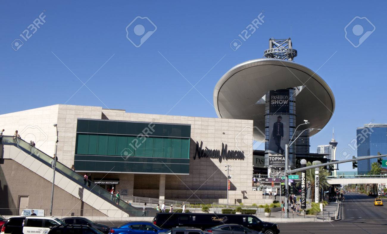 Las Vegas Fashion Show Mall with the Neiman Marcus store on the..