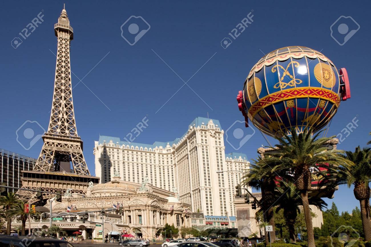 The Famous Las Vegas Strip In Front Of Paris Casino Picture Shows